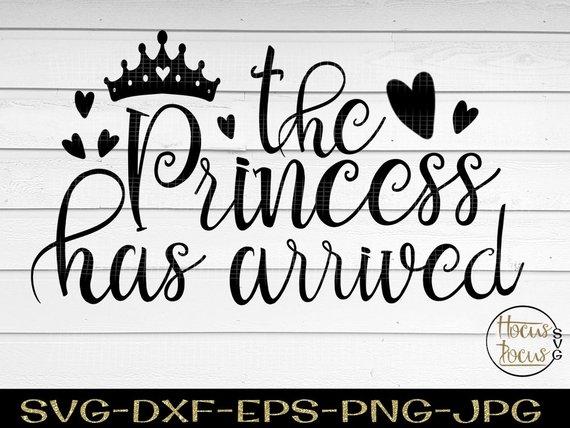 Baby bib svg Crown SVG Princess crown svg Little Girl svg Princess SVG Princess crown svg Baby girl svg svg dxf Girl svg