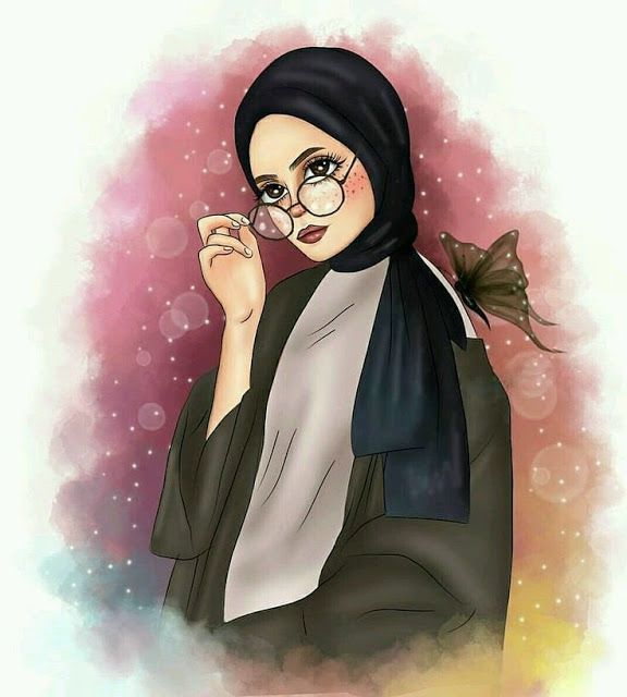 Kumpulan Kartun Hijab Muslimah Cute Jutaan Gambar Girls Cartoon Art Islamic Cartoon Girly Art