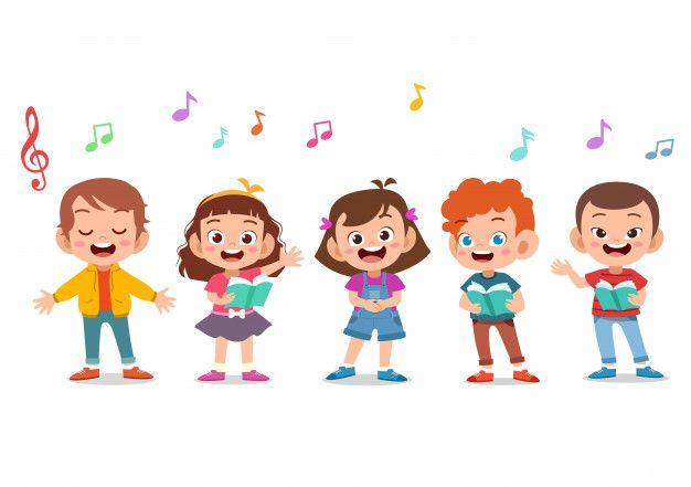 Cartoon Group Of Children Singing In The Premium Vector Freepik Vector Christmas Music Cartoons Group Cute Cartoon Wallpapers Kids Cartoon Characters