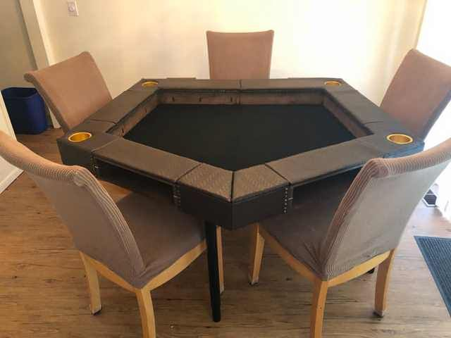 DnD folding pentagon-shaped table
