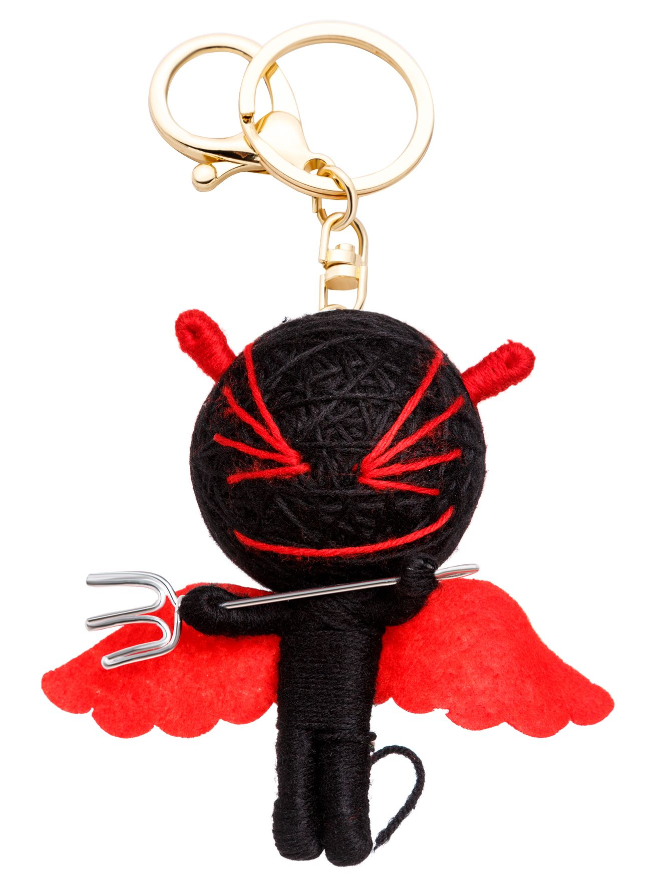 Red And Black Personalized Little Monster Keychain — 0.00 € -----color: Black size: None