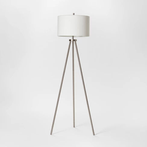 Ellis Collection Tripod Floor Lamp Nickel Project 62 In