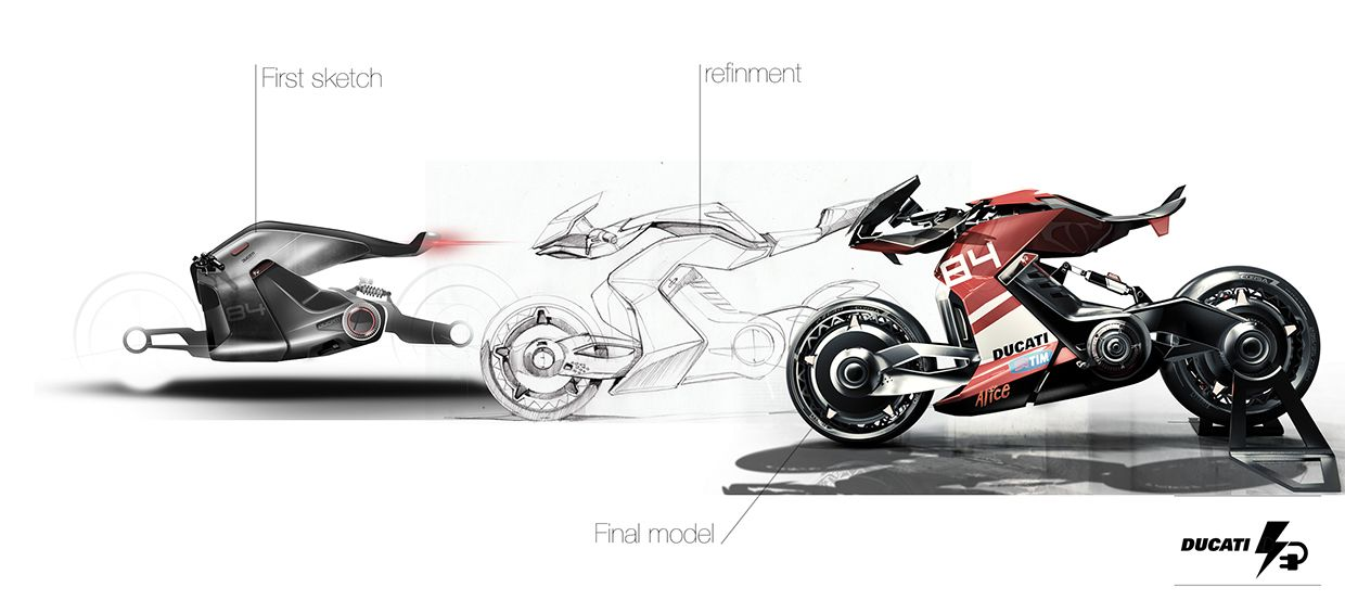 This project is the continuation of my first vision of the electric motorcycle. I worked the stance of the vehicle and the various details.