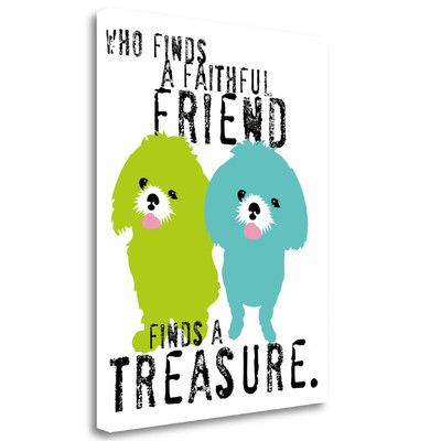 Tangletown Fine Art 'A Faithful Friend' by Ginger Oliphant Graphic Art on Wrapped Canvas