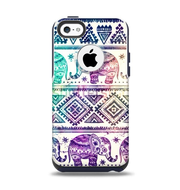 new arrival d5049 918f0 The Tie-Dyed Aztec Elephant Pattern Apple iPhone 5c Otterbox ...
