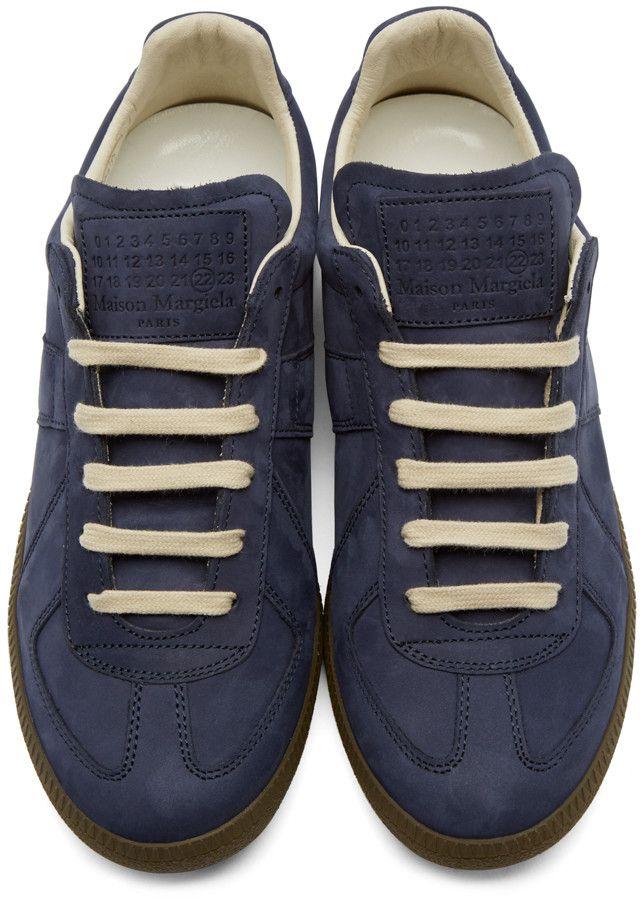 Maison Margiela Blue Nubuck Replica Sneakers