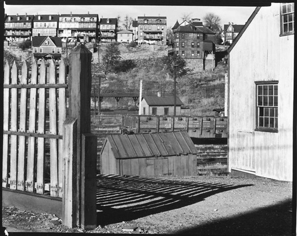 Walker Evans, Railroad Yard Below Workers' Houses with