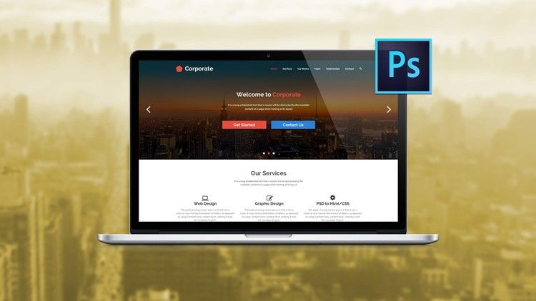 The Ultimate Web Designing Course In Photoshop With 20 Psd Files 3 Mega Web Design Projects Udemy 9 Web Design Course Learn Web Design Web Design Projects