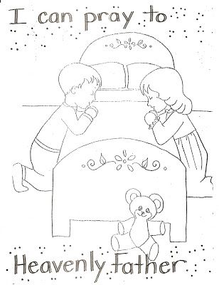 LDS Nursery Color Pages: 4 - I Can Pray To Heavenly Father | LDS ...