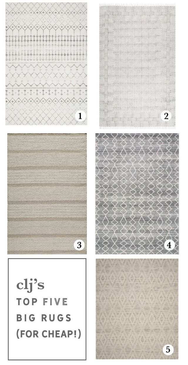 Huge Rug Living Room Ottoman Decor: 5 BIG, Area Rugs For Cheap (And The One We Chose For The