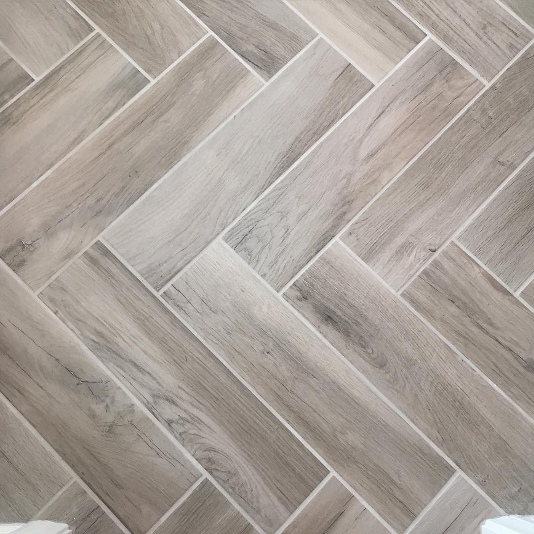 Love The Way Our Herringbone Faux Wood Title Floors Came Out
