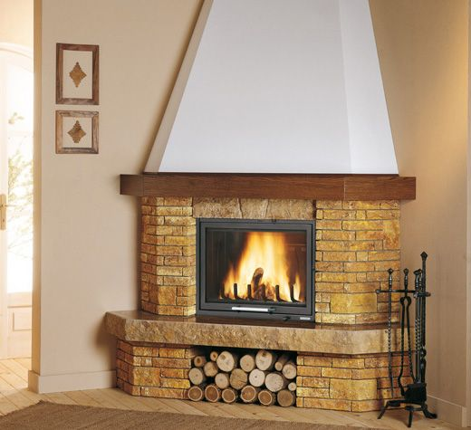 Fireplaces and stoves palazzetti chimeneas en 2019 for Arredo camino rustico