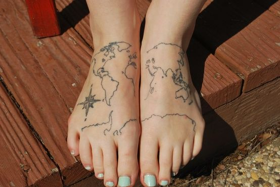 This tattoo make mes think of an idea for my sister seleena this tattoo make mes think of an idea for my sister seleena antonowitsch emily nineteen dallas indianshootingstartumblr this is my world map tattoo gumiabroncs Image collections