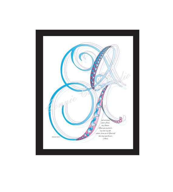 Instant Digital Download Love Lines Letter G by ConnieCoxStudio, $6.00