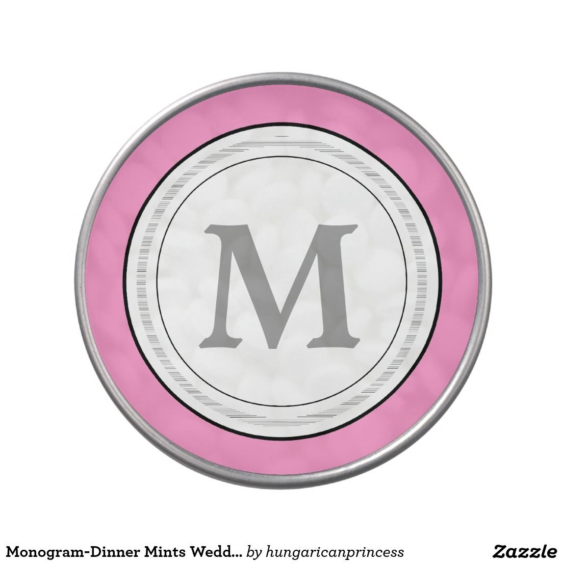 Monogram-Dinner Mints Wedding Favor Jelly Belly Candy Tin