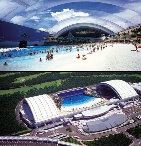 Located in japan ocean dome is the largest indoor - Longest swimming pool in the world ...