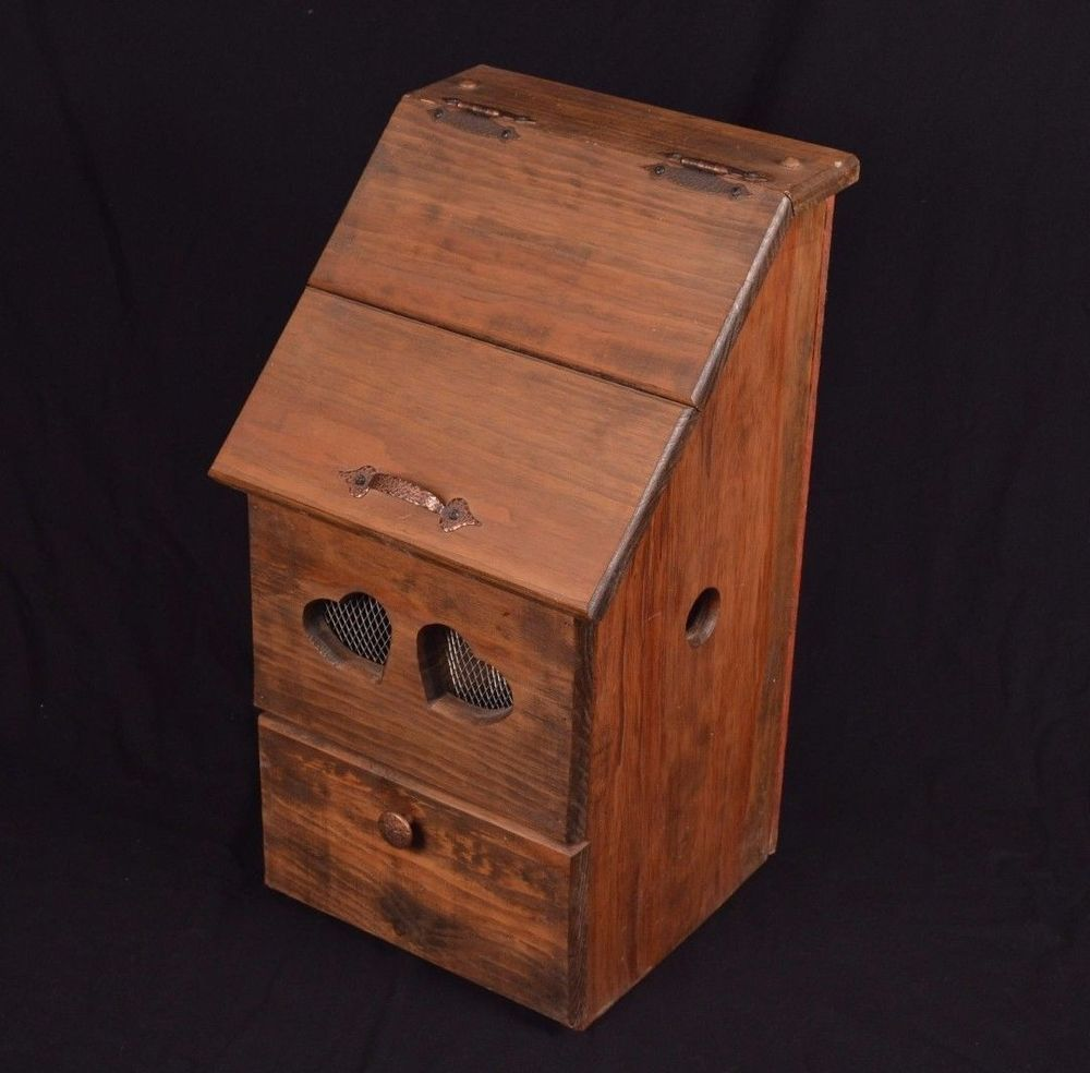 vintage wooden potato box onion box cabinet rustic