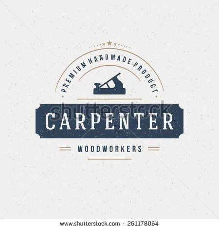 Carpenter Design Element In Vintage Style For Logotype Label Badge