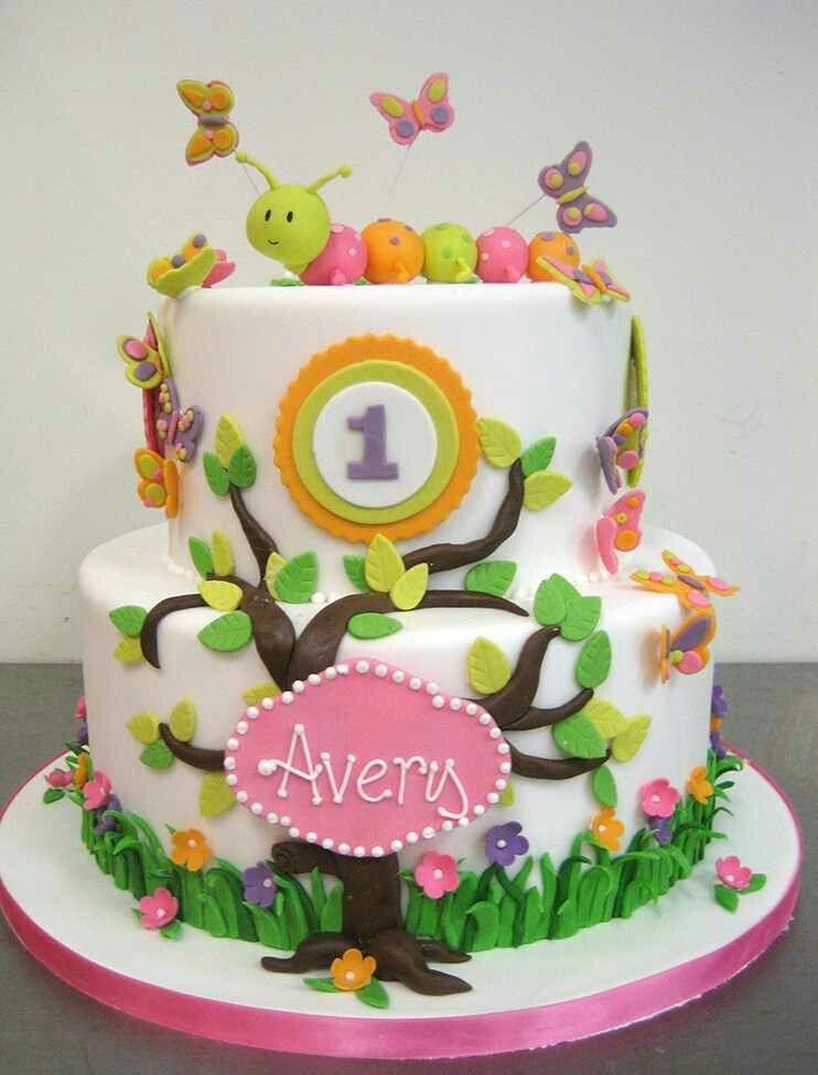 1st birthday cake Kids cake Pinterest Birthday cakes Cake and