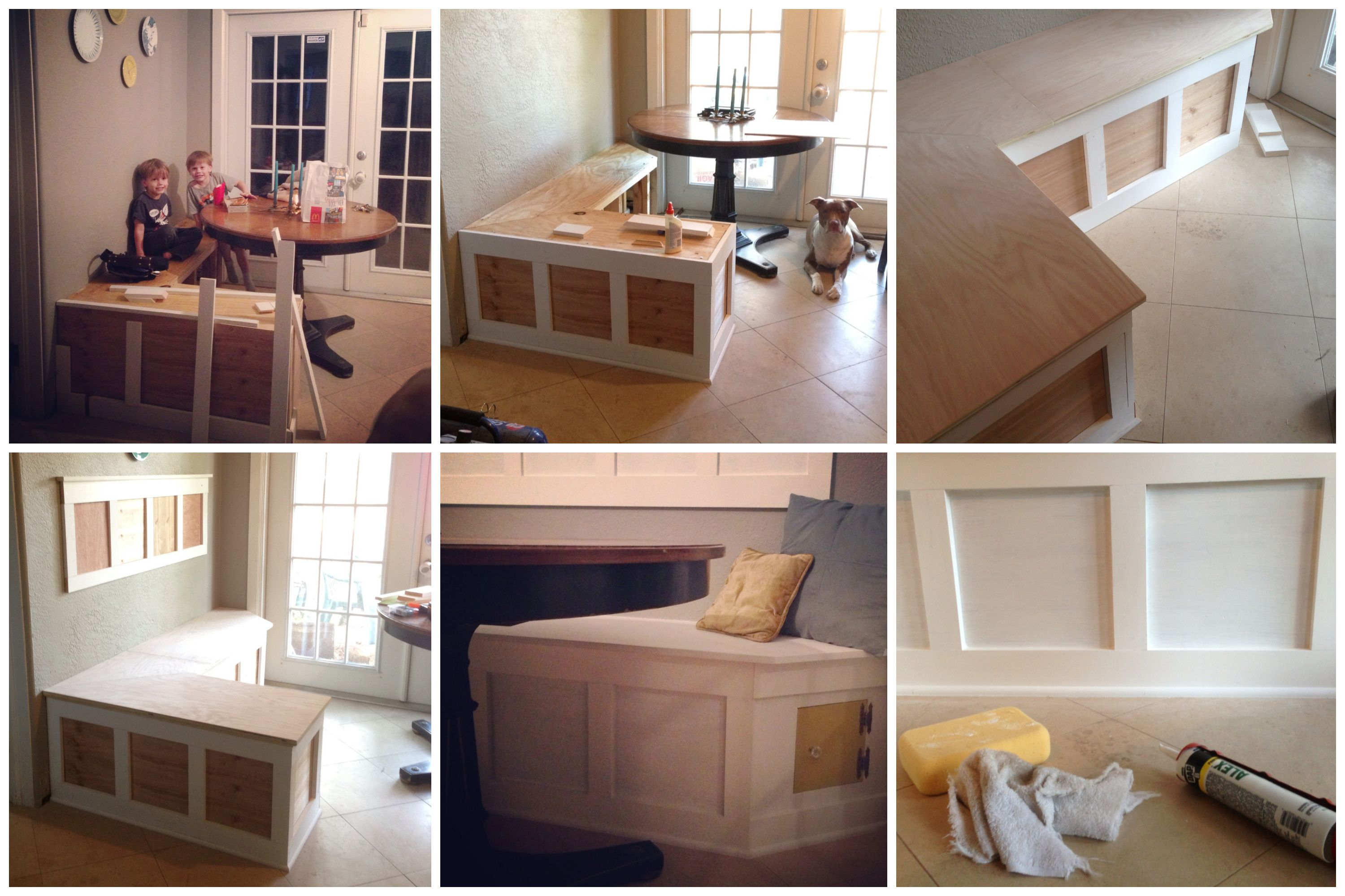 Diy built in breakfast nook this may be my first attempt for Built in banquette seating kitchen