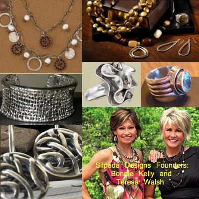Bonnie and Theresa and some beautiful vintage pieces of Silpada