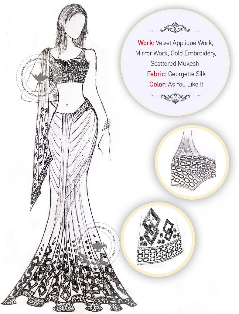 We Ve Got Something Really Special For You Exclusive Saree Design Sketche Fashion Illustration Dresses Fashion Illustration Sketches Fashion Art Illustration