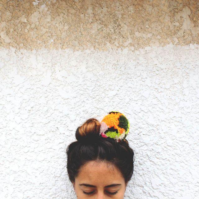 pom pom hairband / anna weber for ship & shape
