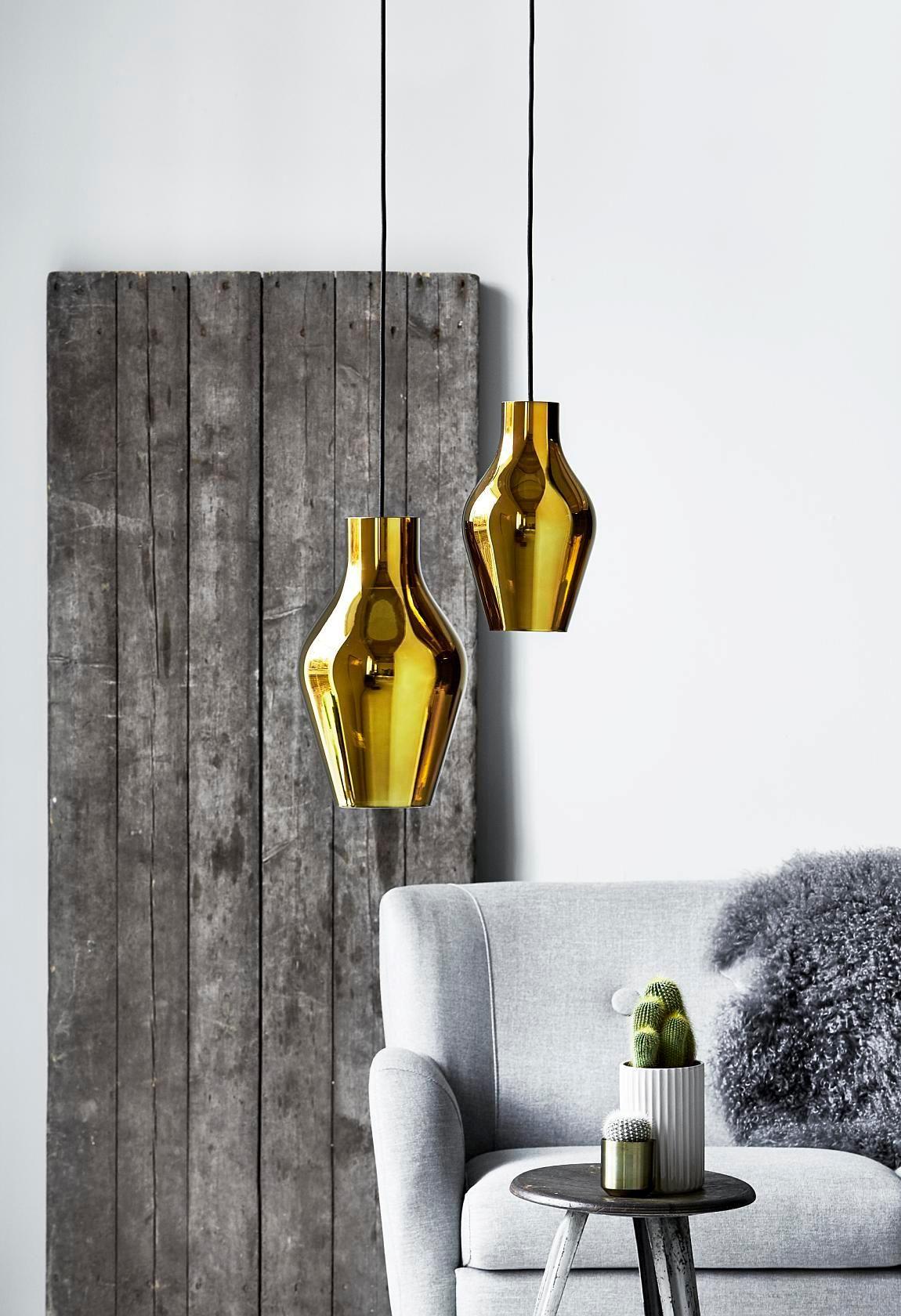 Blow pendel guld brass lighting pinterest