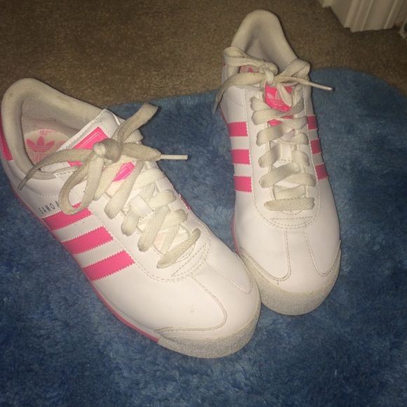 f9b1bb81d281f6 Adidas Samoa Pink and white . Size 7.5 9 10 condition Adidas Shoes Sneakers