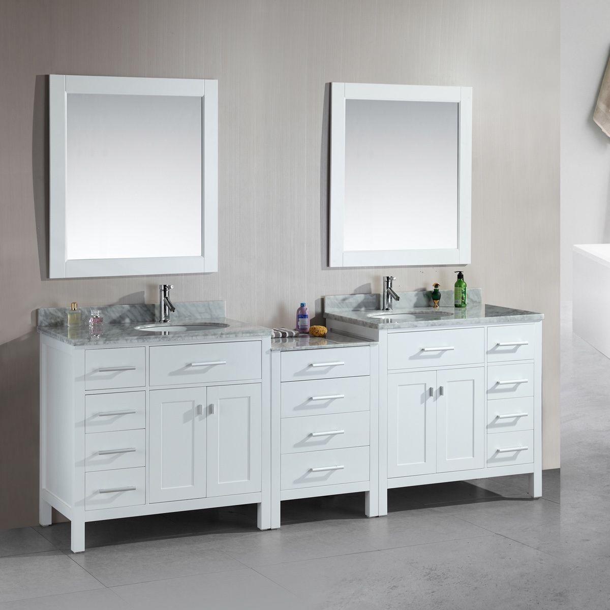 Design A Bathroom Vanity Online Custom This Elegant Double Sink Bathroom Vanity Features Beautiful Solid Design Ideas