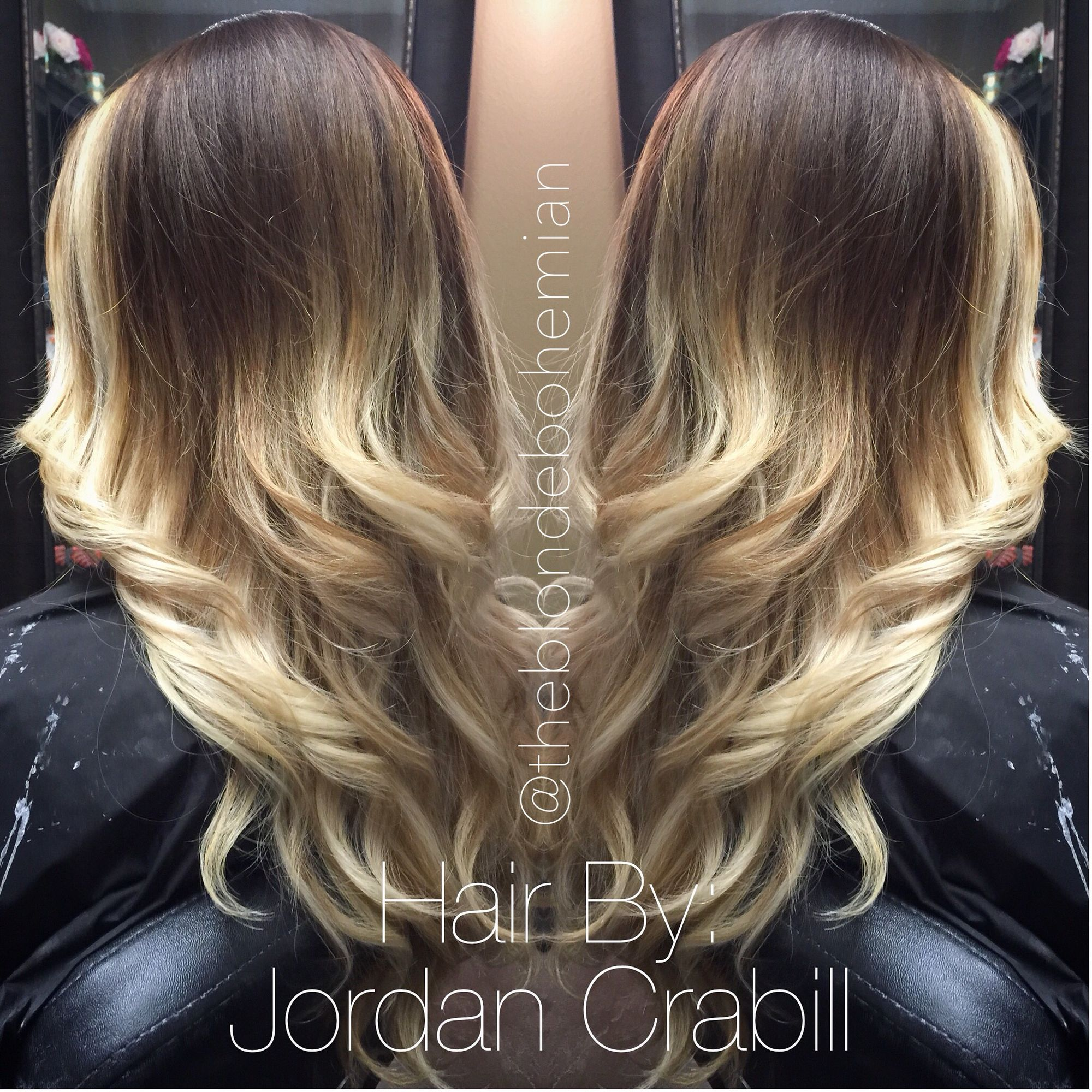 Chocolate brown to vanilla blonde ombré balayage by Jordan Crabill ...