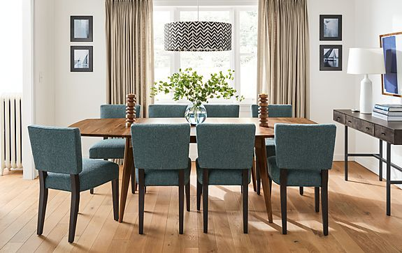 Dining Room Extension Table Ventura Extension Table In Walnut  Modern Dining Room Furniture