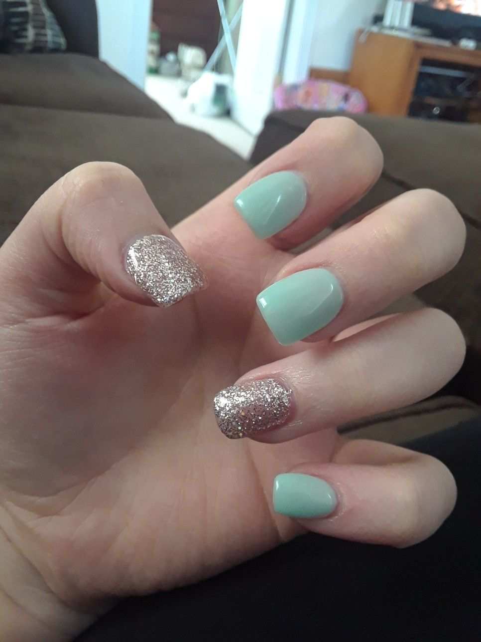 Love my new nails. I\'ve now gotten my nails done twice in my life ...
