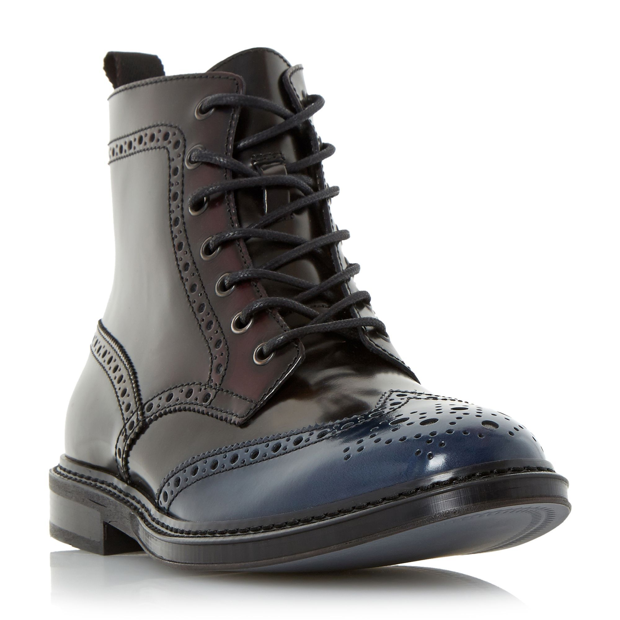 Dune Cruncher lace up brogue boots, Multi-Coloured