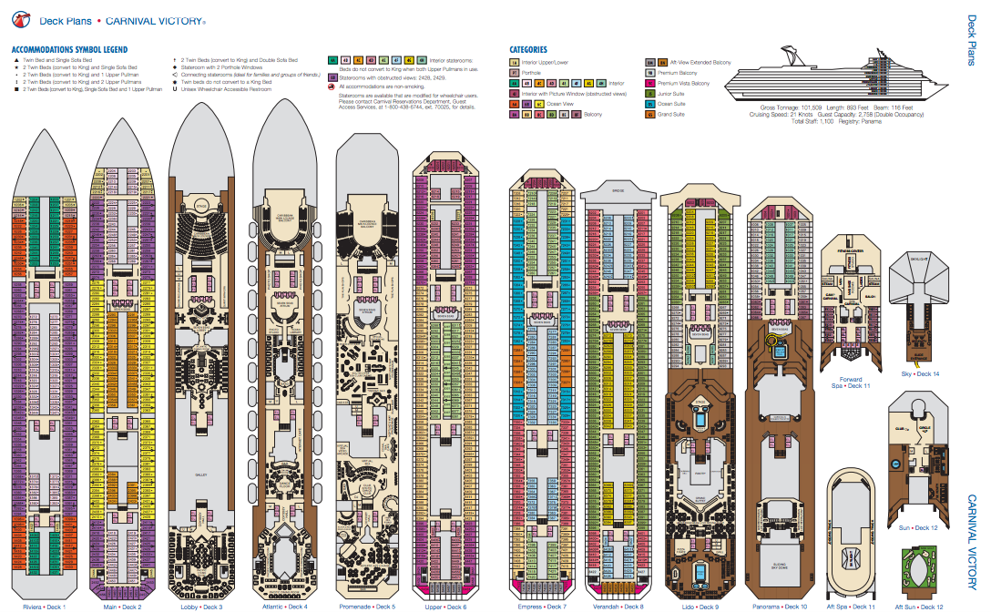 Galerry printable deck plans carnival victory