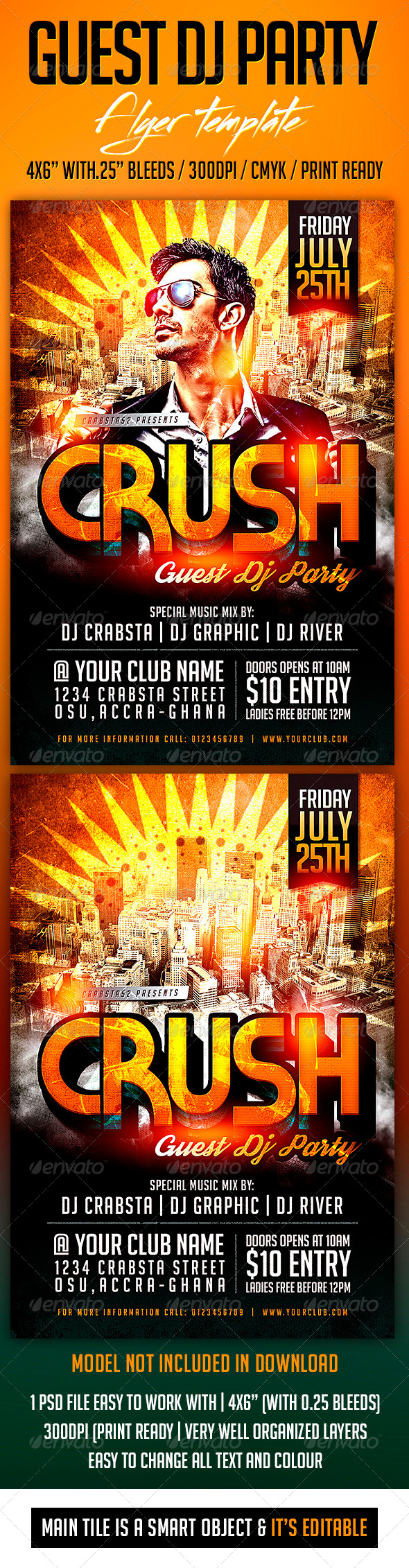 Guest Dj Party Flyer Template PSD Buy And Download Http - Buy flyer templates