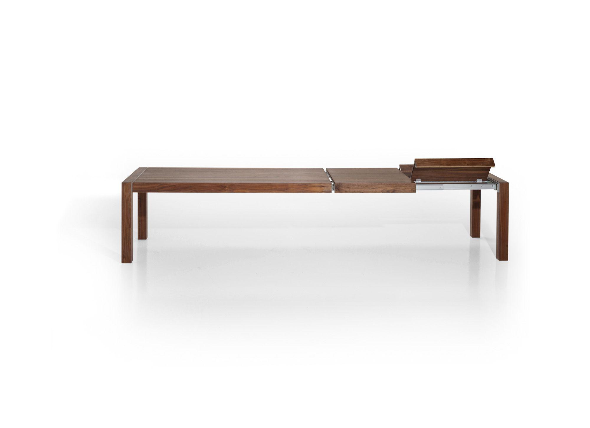 esstisch | holz | dunkel | ausziehbar | verlängerbar um 2 x 75 cm, Moderne