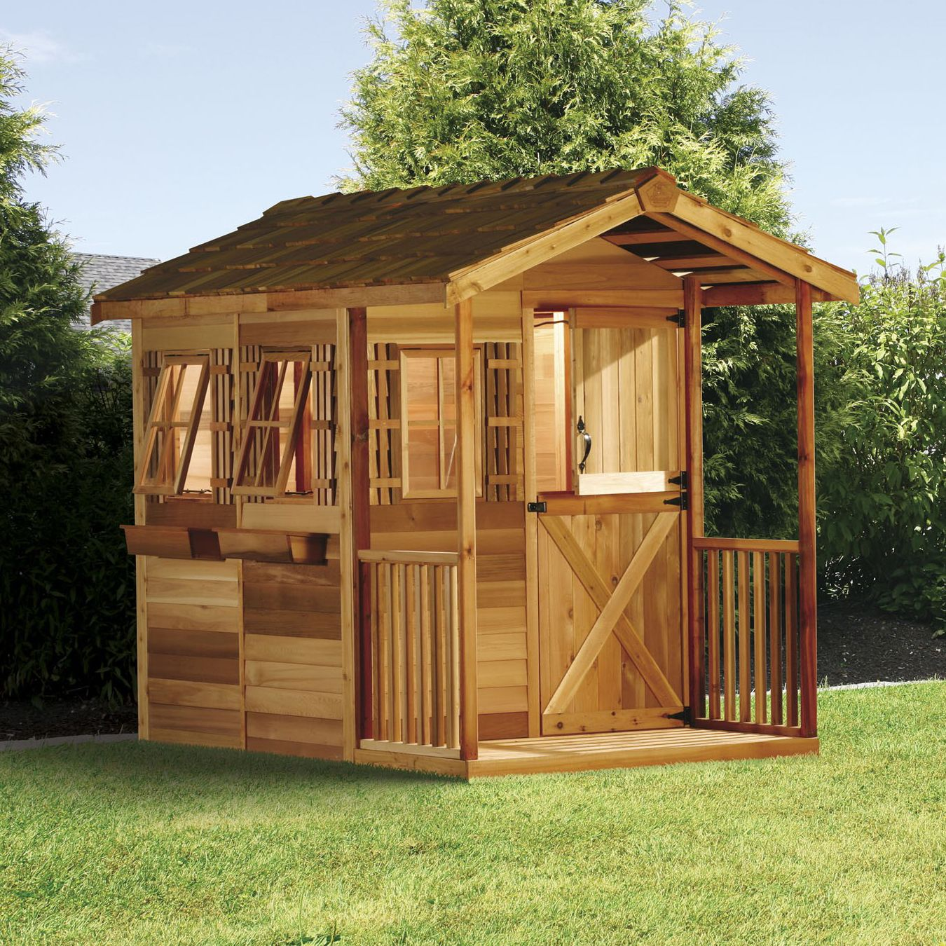 Cedar Shed 6 Ft X 9 Ft Children S Delight Shed Cd69 Play Houses Build A Playhouse Cedar Shed
