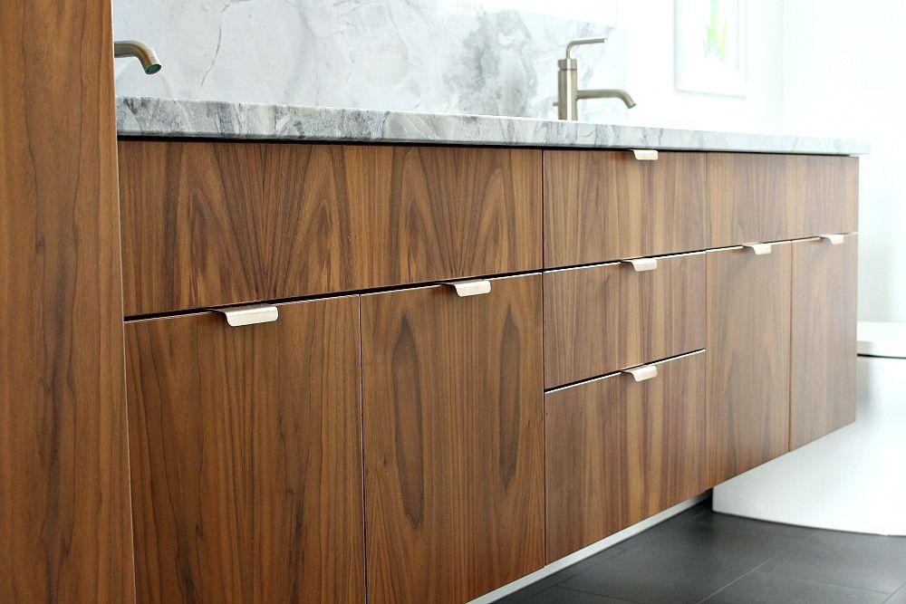 Bathroom Reno Update Mid Century Modern Inspired Cabinet Pulls