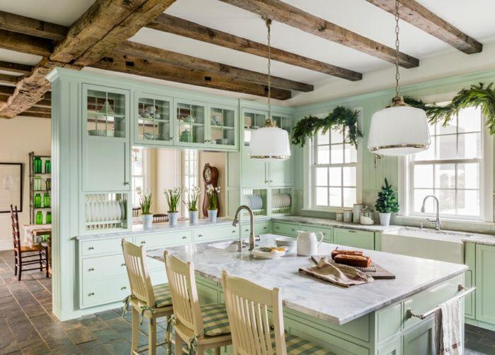1001 ideas de cocinas rusticas c lidas y con encanto - Vigas de decoracion ...