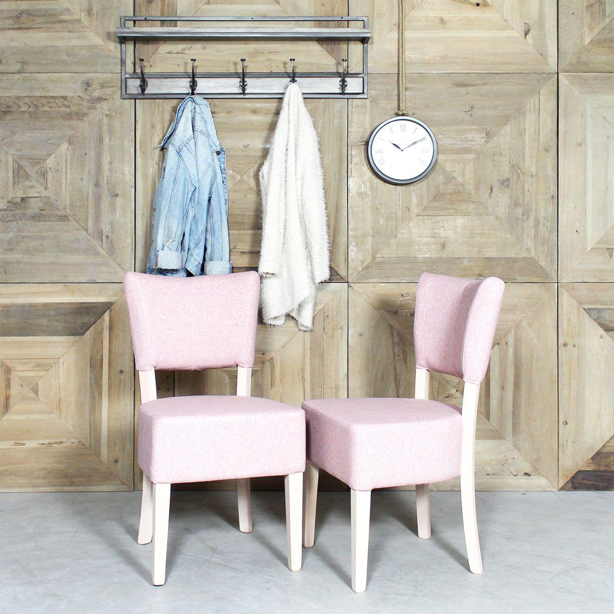chaise bois massif tissu rose design chaises bois tissu rose et bois massif. Black Bedroom Furniture Sets. Home Design Ideas