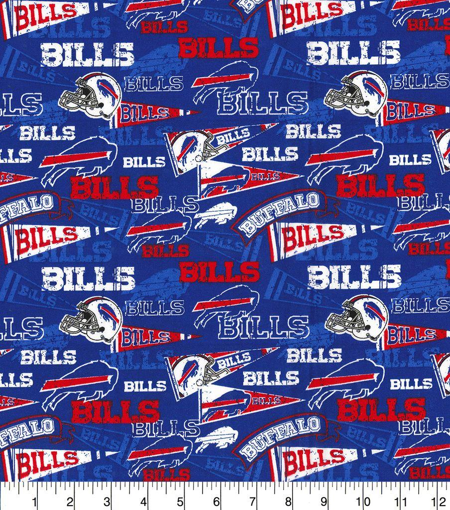 db0505a2 Buffalo Bills Cotton Fabric-Retro | NFL | Buffalo bills, Cotton ...
