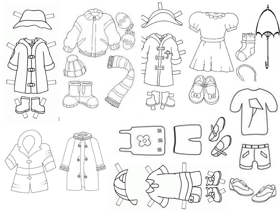 Prendas De Vestir Segun El Clima Para Colorear Imagui Art For Kids Teaching Spanish Teaching