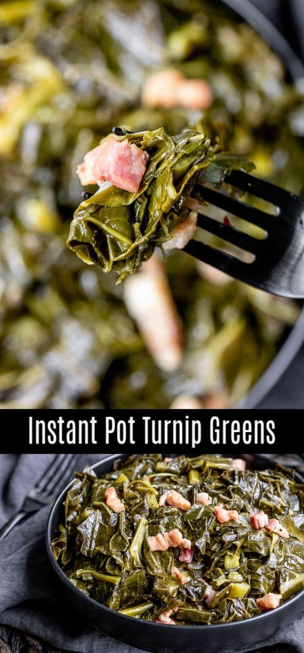 Photo of Instant Pot Turnip Greens & Collard Greens