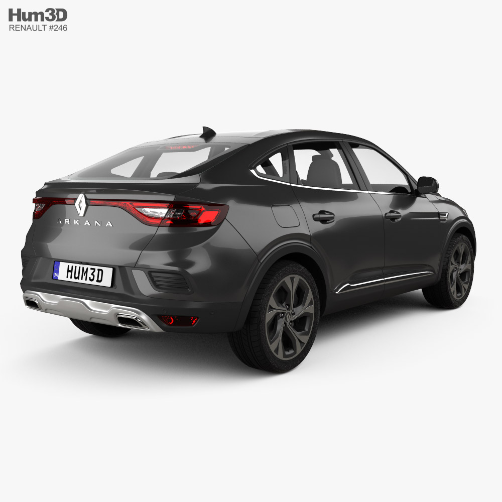 3d Model Of Renault Arkana Rs Line 2022 In 2021 Renault 3d Model Car 3d Model