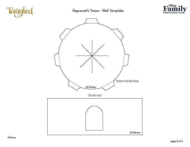 Torre Da Rapuzel Tangled 3d Para Imprimir E Montar Faca Festa