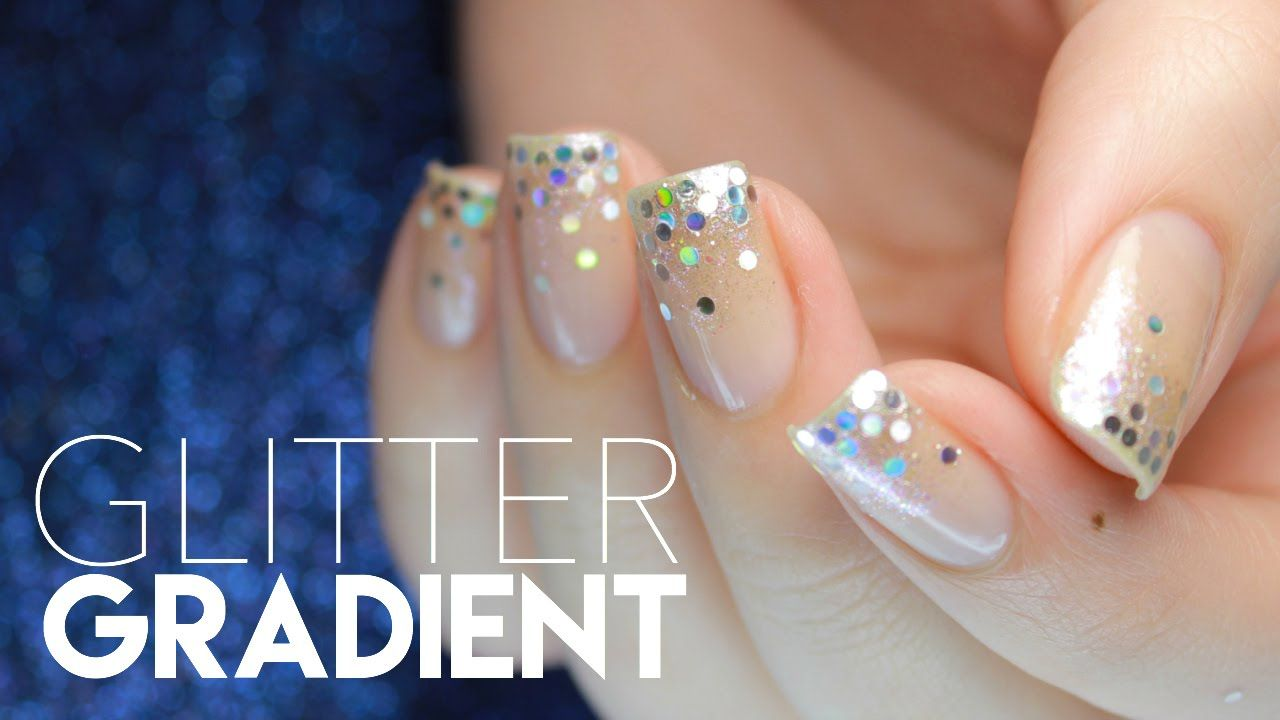 Easy Glitter Gradient Prom/Party Nails in ONE MINUTE! | Nail Designs ...