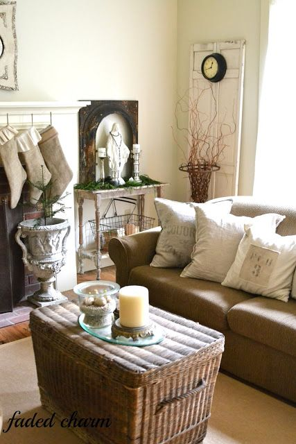 Faded charm pillows living inspiration pinterest for Catholic decorations home
