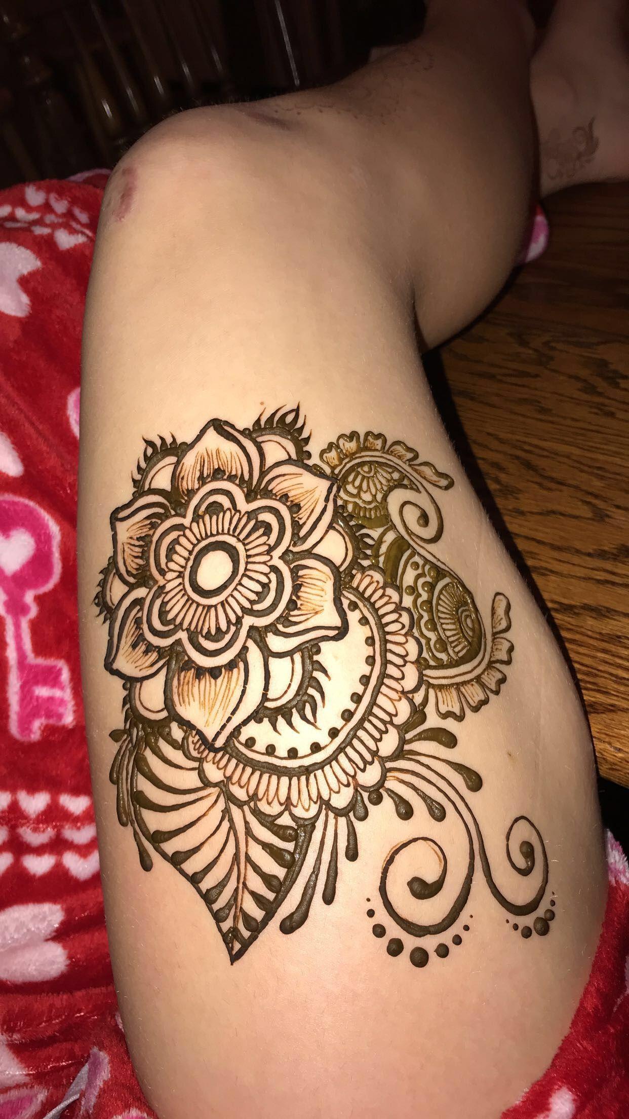 Henna Leg Henna Designs Henna Tattoo Designs Thigh Henna