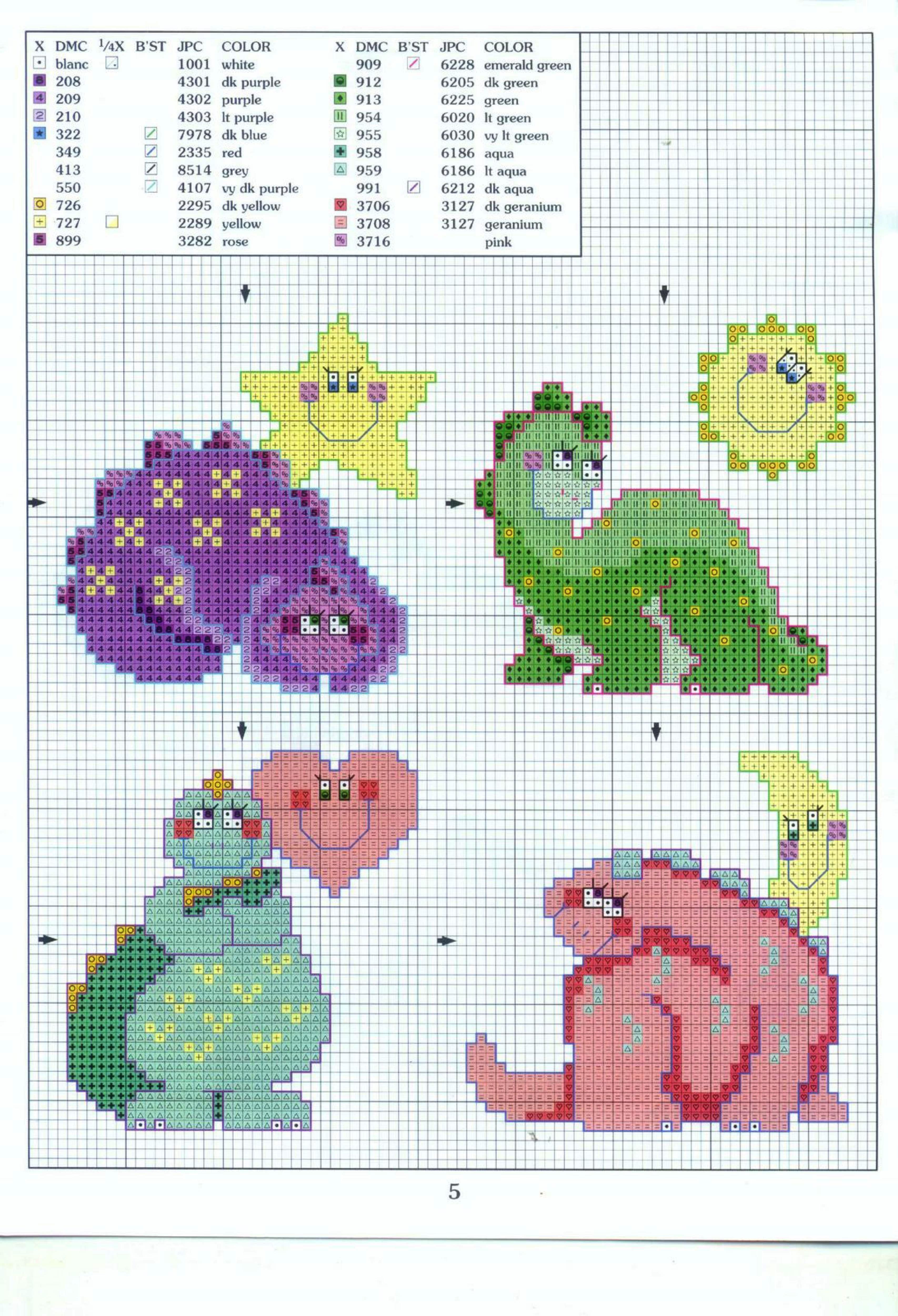 Dinosaurios infantiles | punto cruz | Pinterest | Cross Stitch ...
